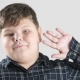 Young Fat Boy Showing Hello Sign 50 Fps - VideoHive Item for Sale