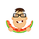 Man Eating Watermelon - GraphicRiver Item for Sale
