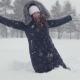 Young Woman Falling in a Snowdrift - VideoHive Item for Sale