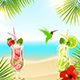 Tropical Background with Cocktails - GraphicRiver Item for Sale