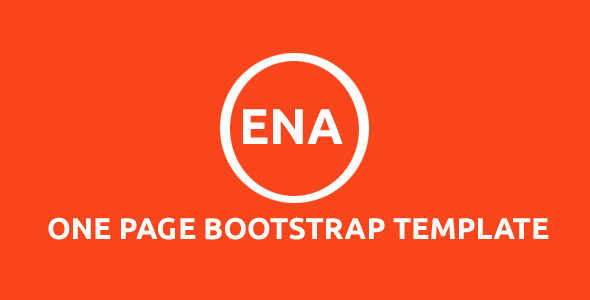 Ena - One Page Bootstrap Template