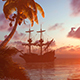 Sunset And The Ship And The Sea - VideoHive Item for Sale