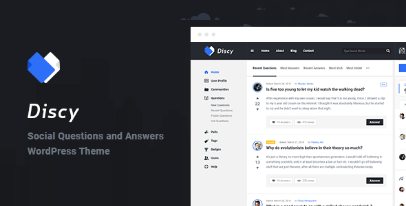 discy – social questions and answers wordpress theme (miscellaneous) Discy – Social Questions and Answers WordPress Theme (Miscellaneous) 01 preview