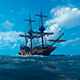 Sailing Ship In The Sea - VideoHive Item for Sale