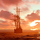 Sailing Ship Drifts Into The Sea - VideoHive Item for Sale