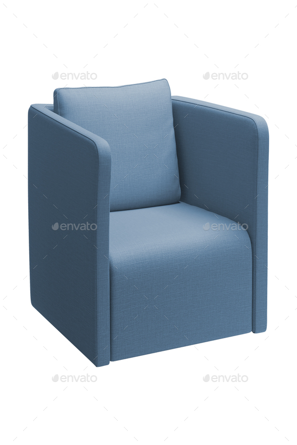 blue chair isolated on white - Stock Photo - Images