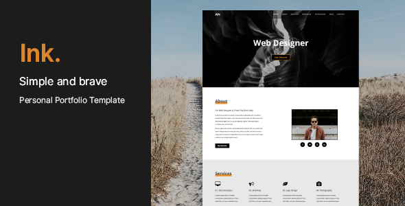 INK - Personal Portfolio Template