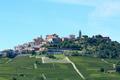 La Morra town in Piedmont, Langhe hills in Italy in summer - PhotoDune Item for Sale