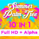 Summer Palm Tree Vj Loops Pack - VideoHive Item for Sale