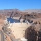 Panorama A Big Concrete Hoover Dam Among The Rocks Of The Black Canyon - VideoHive Item for Sale