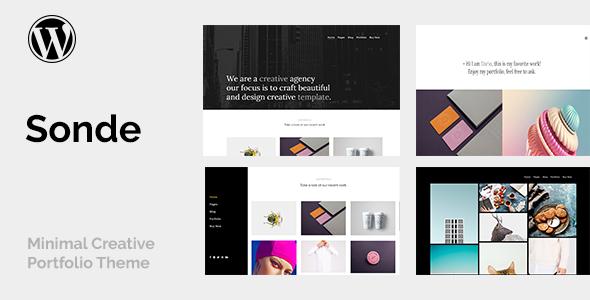 Image of Sonde - Creative Portfolio Theme