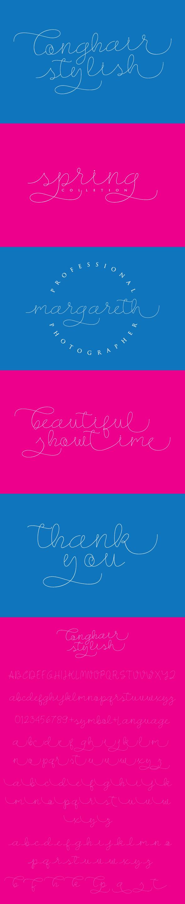 Longhair-Monoline Script Font