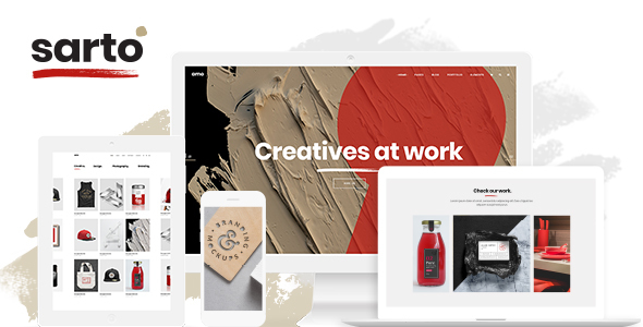 Image of Sarto - A Multi-Concept Theme for Creative Agencies and Freelancers