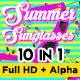 Summer Sunglasses Vj Loops - VideoHive Item for Sale