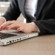 Businesswoman Hands with Red Fingernails Typing on Laptop - VideoHive Item for Sale