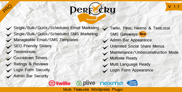 Perfecky Pro - Multi Feature WordPress Plugin - CodeCanyon Item for Sale