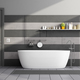 Minimalist black and gray bathroom - PhotoDune Item for Sale