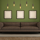 Modern green and brown living room - PhotoDune Item for Sale