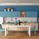 White and blue modern kitchen - PhotoDune Item for Sale