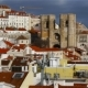 Beautiful View of the Central Part of Lisbon with the Cathedral - VideoHive Item for Sale
