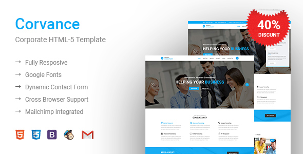 Corvance - Business, Corporate & Multi-Purpose HTML Template