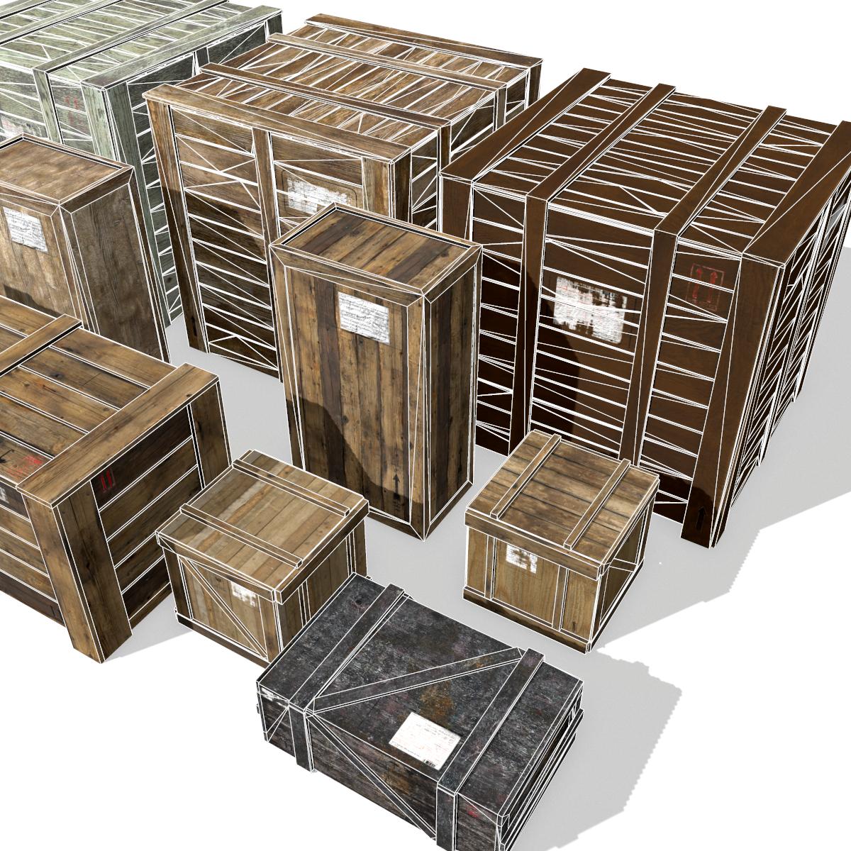 Transport crates Pack3 PBR