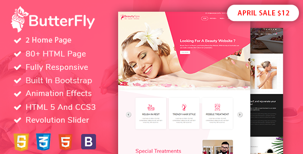 ButterFly : Spa, Beauty Salon & Massage Template - Health & Beauty Retail