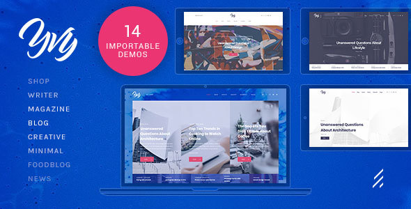 Yvy — Blog/Magazine WordPress Theme