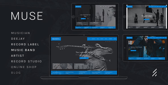 Image of Muse — Music WordPress Theme