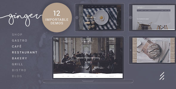 Ginger — Restaurant WordPress Theme - Restaurants & Cafes Entertainment