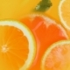 View From Top of Lemonade Jar with Floating Oranges, Grapefruits and Fresh Mint Leaves - VideoHive Item for Sale