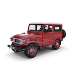 Toyota Land Cruiser FJ 40 Red with Interior and Chassis - 3DOcean Item for Sale