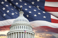 United States Capitol with American flag behind - PhotoDune Item for Sale
