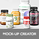 Supplement Bottles Mockup