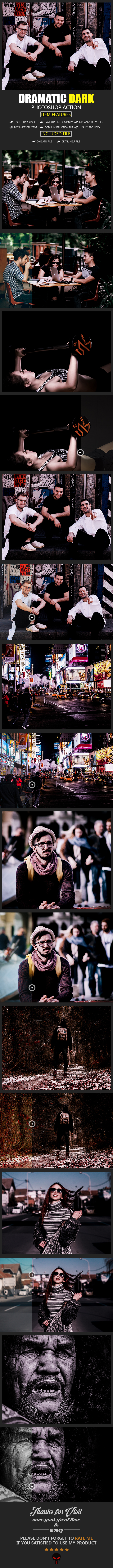 Dramatic Dark Photoshop Action - Photo Effects Actions