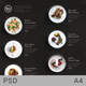 Food Plate Clean Menu Chalk Playful - GraphicRiver Item for Sale