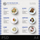Menu Design Wave Pattern