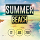 Summer Beach - PSD Flyer Template - GraphicRiver Item for Sale