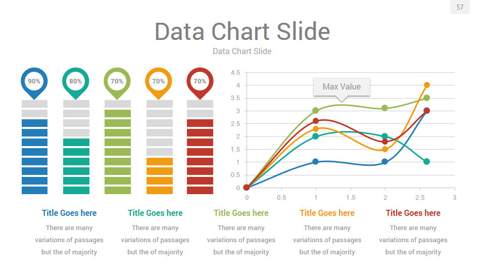 Data Charts Powerpoint Presentation Template By Rojdark Graphicriver