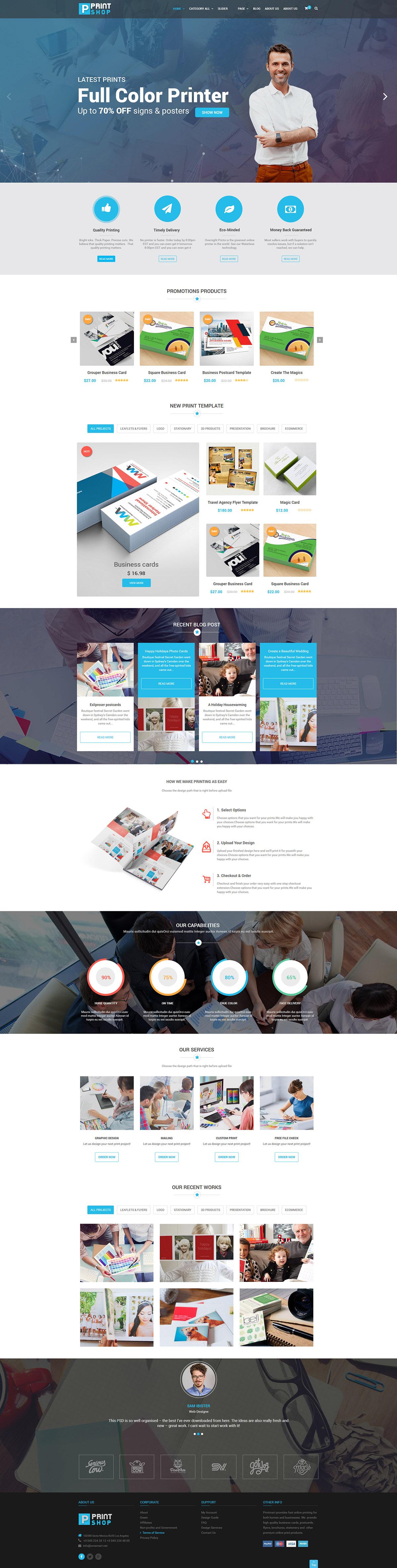 Printshop wordpress responsive printing theme by netbaseteam screenshot01bannerg fandeluxe Gallery