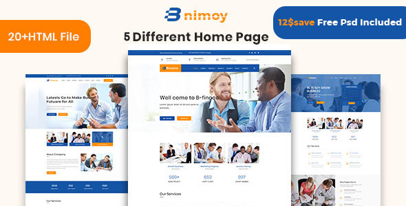 Binimoy Finance Business Html5 Template By Thethemepond