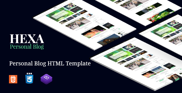 Hexa - Clean Modern & Classic Blog Site Template - Business Corporate