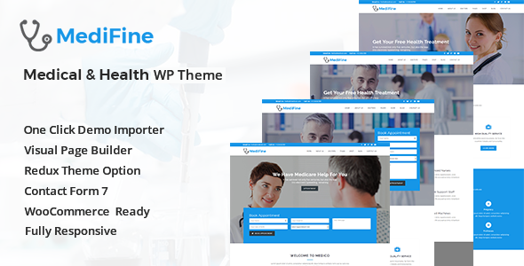 Image of MediFine - Health and Medical WordPress Theme