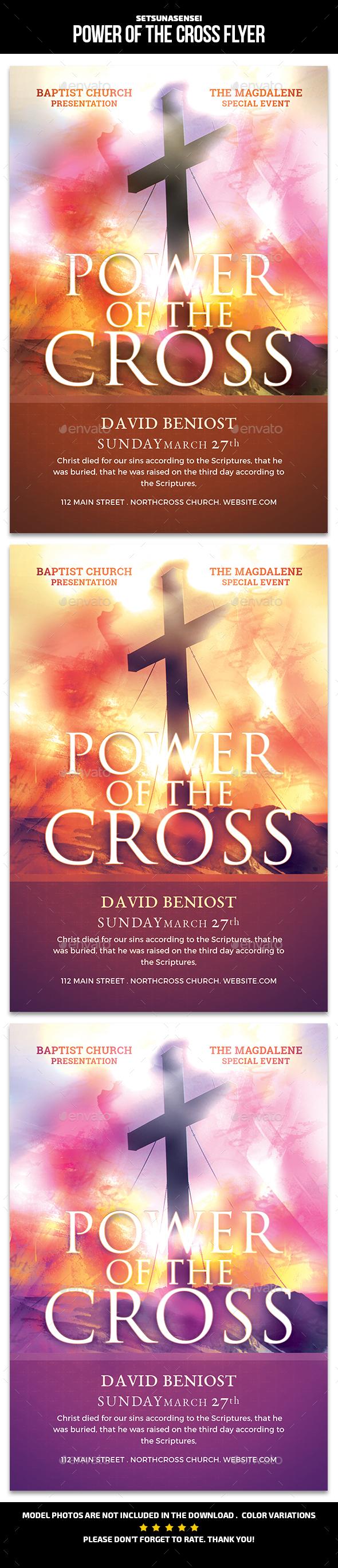 Power of the Cross Flyer - Church Flyers