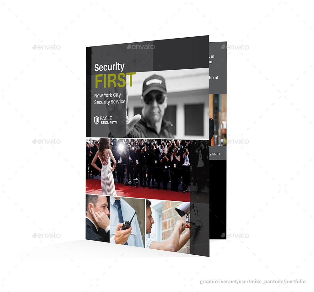 Security Guard Service Bifold / Halffold Brochure