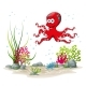Underwater Landscape With Squid - GraphicRiver Item for Sale