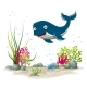 Underwater Landscape With Whale - GraphicRiver Item for Sale