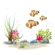 Underwater Landscape With Fishes - GraphicRiver Item for Sale