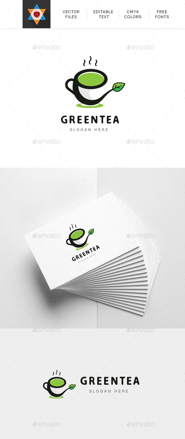 Green Tea Logo - Nature Logo Templates