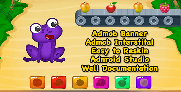 Hungry Frog Rush + Admob + Android Studio - Ready For Publish - CodeCanyon Item for Sale